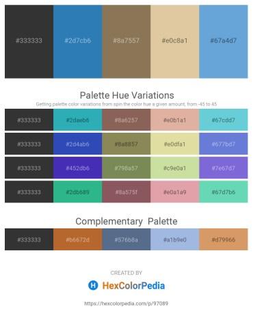 Palette image download - Black – Steel Blue – Dim Gray – Burlywood – Gray