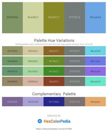 Palette image download - Dark Sea Green – Tan – Olive Drab – Slate Gray – Cornflower Blue