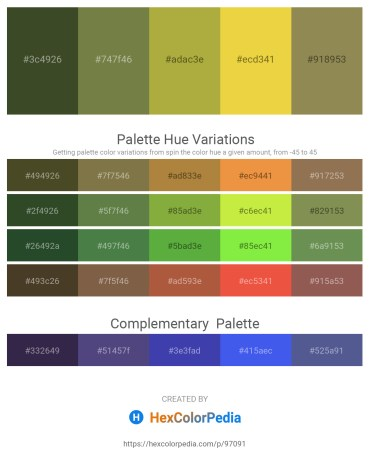 Palette image download - Dark Olive Green – Dark Olive Green – Yellow Green – Black – Dark Khaki