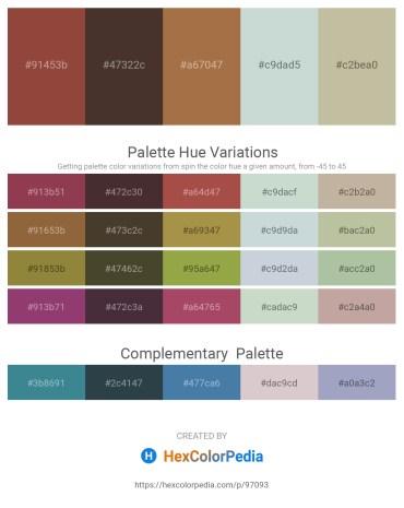 Palette image download - Sienna – Dark Slate Gray – Sienna – Light Steel Blue – Dim Gray