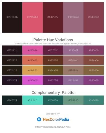 Palette image download - Black – Indian Red – Brown – Gray – Orange