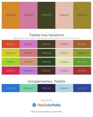 Palette image download - Peru – Pale Violet Red – Dark Olive Green – Burlywood – Tan