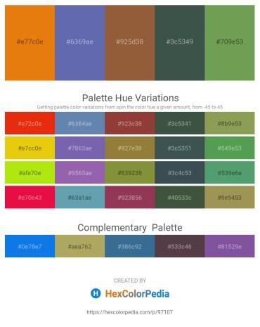 Palette image download - Dark Orange – Steel Blue – Sienna – Dark Slate Gray – Dark Olive Green