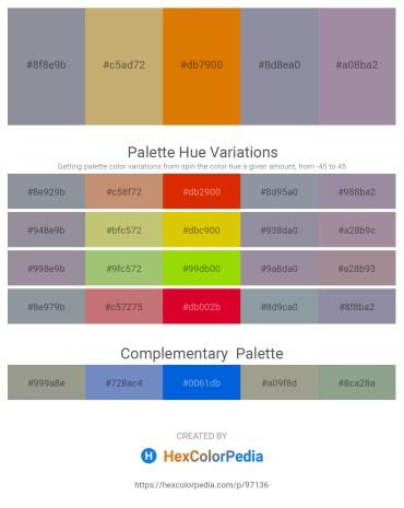 Palette image download - Light Slate Gray – Dark Khaki – Dark Orange – Light Slate Gray – Light Slate Gray