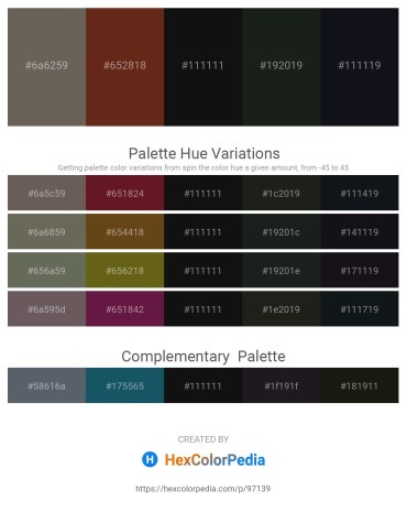 Palette image download - Dim Gray – Saddle Brown – Black – Dark Slate Gray – Royal Blue