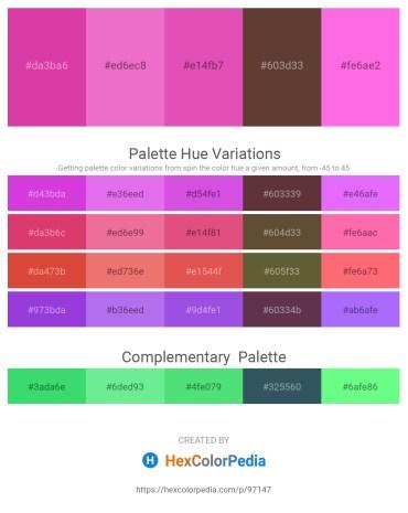Palette image download - Pale Violet Red – Violet – Orchid – Lime Green – Hot Pink