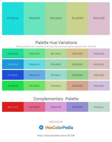 Palette image download - Turquoise – Turquoise – Medium Aquamarine – Tan – Thistle
