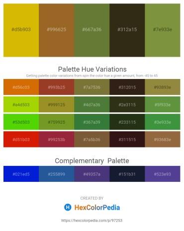Palette image download - Orange – Sienna – Dark Olive Green – Firebrick – Dark Olive Green