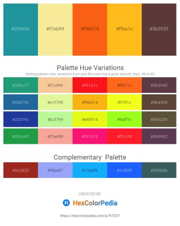 Palette image download - Light Sea Green – Khaki – Orange Red – Orange – Light Sea Green