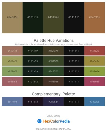 Palette image download - Dark Khaki – Dark Slate Gray – Dark Olive Green – Black – Sienna