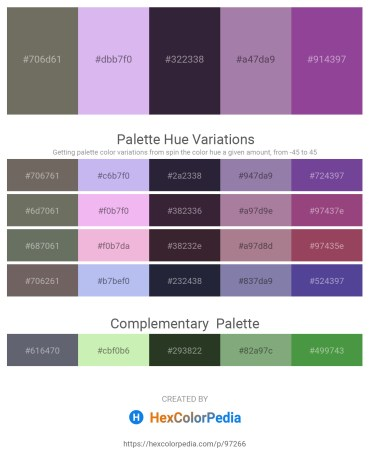 Palette image download - Dim Gray – Lavender – Dark Khaki – Light Slate Gray – Dark Slate Blue
