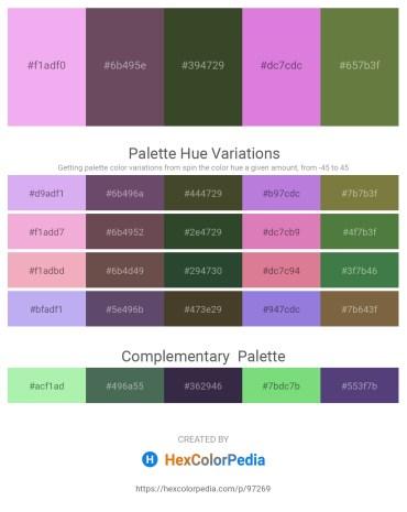 Palette image download - Violet – Dim Gray – Dark Olive Green – Orchid – Dark Olive Green
