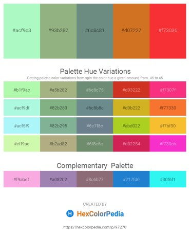 Palette image download - Pale Green – Dark Sea Green – Slate Gray – Chocolate – Tomato