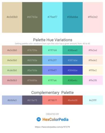 Palette image download - Tan – Dim Gray – Light Sky Blue – Medium Turquoise – Misty Rose