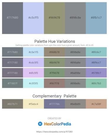 Palette image download - Slate Gray – Lavender – Gray – Light Slate Gray – Light Steel Blue
