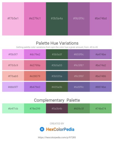 Palette image download - Violet – Orchid – Dark Slate Gray – Slate Gray – Rosy Brown