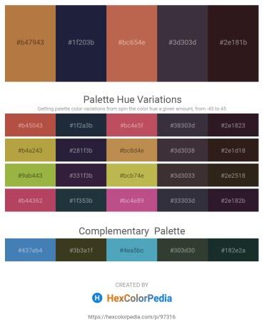 Palette image download - Peru – Dim Gray – Indian Red – Peru – Black