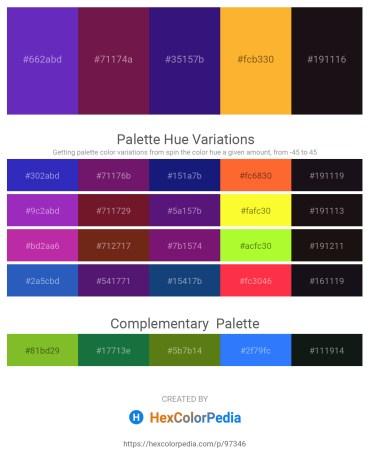 Palette image download - Dark Orchid – Brown – Midnight Blue – Orange – Black