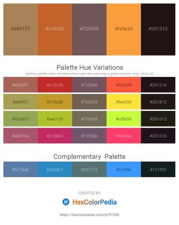 Palette image download - Medium Purple – Chocolate – Dim Gray – Coral – Black