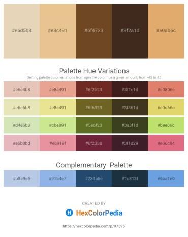 Palette image download - Beige – Burlywood – Sienna – Black – Dark Salmon