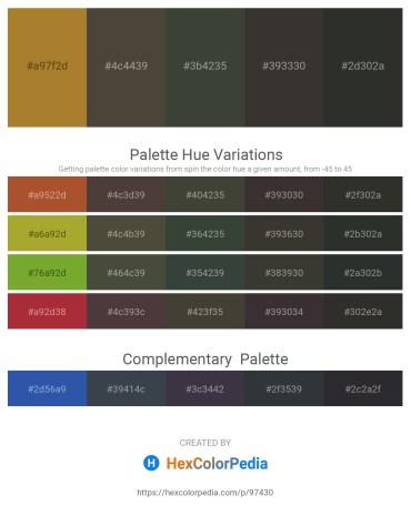 Palette image download - Rosy Brown – Dim Gray – Dark Slate Gray – Black – Dark Slate Gray