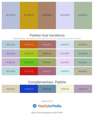 Palette image download - Light Steel Blue – Goldenrod – Rosy Brown – Lavender – Dark Sea Green