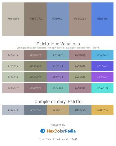 Palette image download - Silver – Gray – Dark Sea Green – Rosy Brown – Royal Blue
