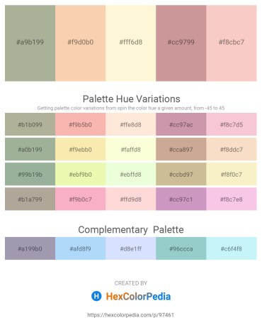 Palette image download - Dark Sea Green – Wheat – Cornsilk – Rosy Brown – Dark Gray