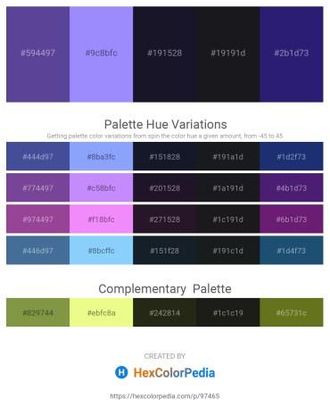 Palette image download - Dark Slate Blue – Medium Slate Blue – Light Slate Gray – Dark Sea Green – Midnight Blue