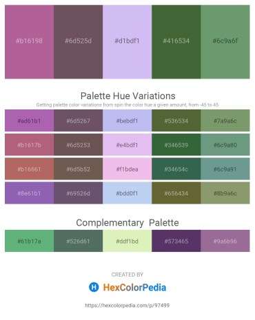 Palette image download - Rosy Brown – Dim Gray – Lavender – Dark Olive Green – Dark Sea Green
