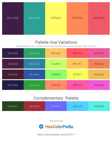 Palette image download - Midnight Blue – Light Sea Green – Navajo White – Coral – Light Coral