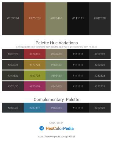 Palette image download - Black – Sienna – Gray – Black – Black