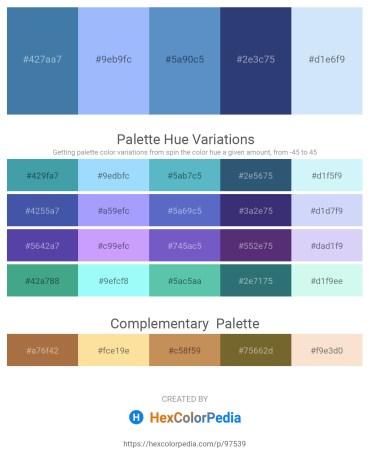 Palette image download - Steel Blue – Light Sky Blue – Steel Blue – Dark Slate Blue – Lavender