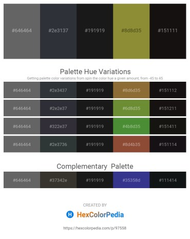 Palette image download - Dim Gray – Dark Slate Gray – Black – Olive Drab – Black