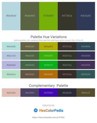 Palette image download - Light Steel Blue – Dark Olive Green – Olive – Light Green – Dark Slate Gray