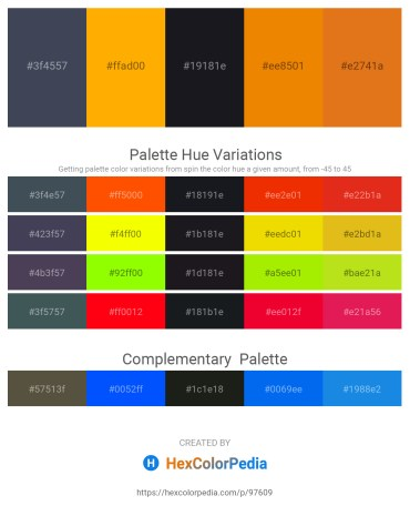 Palette image download - Dark Slate Gray – Orange – Dark Slate Gray – Dark Orange – Chocolate