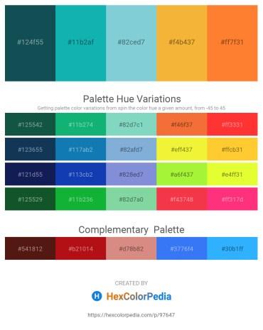 Palette image download - Midnight Blue – Light Sea Green – Light Blue – Sandy Brown – Coral
