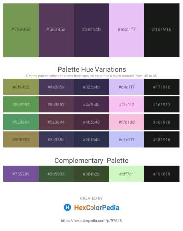 Palette image download - Dark Olive Green – Dark Slate Blue – Dark Slate Blue – Lavender – Black