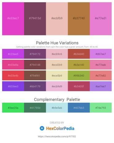 Palette image download - Orchid – Brown – Medium Sea Green – Peru – Violet
