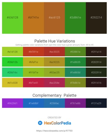 Palette image download - Lime Green – Chocolate – Sienna – Forest Green – Rosy Brown