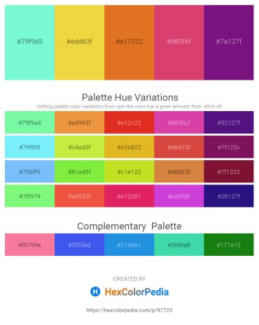 Palette image download - Aquamarine – Olive Drab – Chocolate – Indian Red – Indigo