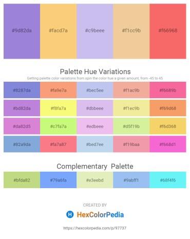 Palette image download - Medium Purple – Light Slate Gray – Lavender – Wheat – Salmon
