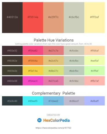 Palette image download - Dark Slate Blue – Tomato – Dark Salmon – Silver – Moccasin