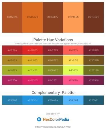 Palette image download - Sienna – Chocolate – Sienna – Coral – Sienna