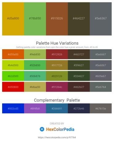 Palette image download - Orange – Yellow Green – Sienna – Dark Olive Green – Slate Gray