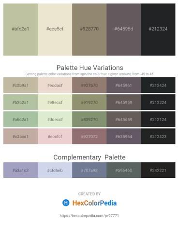 Palette image download - Dark Sea Green – Beige – Gray – Dim Gray – Dark Slate Gray