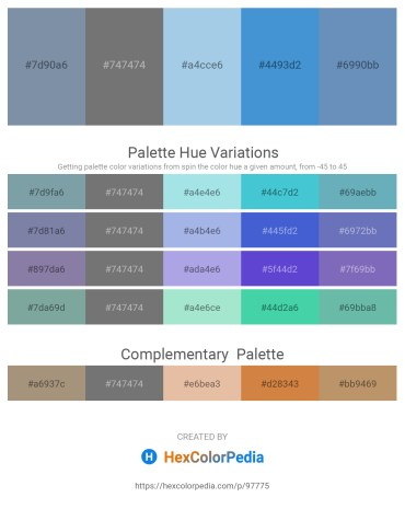Palette image download - Light Slate Gray – Dim Gray – Light Blue – Royal Blue – Steel Blue