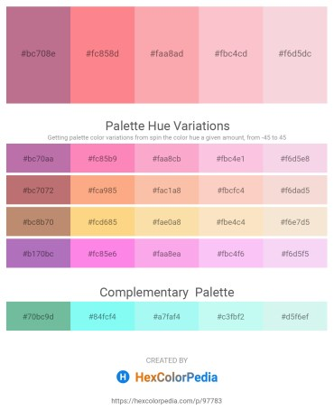Palette image download - Rosy Brown – Salmon – Light Pink – Pink – Linen