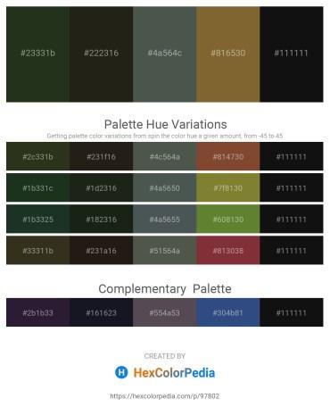 Palette image download - Dark Olive Green – Black – Dark Slate Gray – Sienna – Black