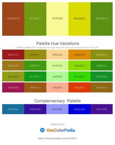 Palette image download - Saddle Brown – Olive Drab – Khaki – Gold – Olive Drab